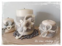 Eli crea shabby & co.: Waiting for Christmas- Candele decorate