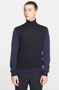 Lanvin+Colorblock+Wool+Turtleneck+Sweater+available+at+#Nordstrom