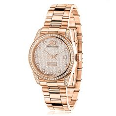 Luxurman Women s Tribeca Rose Gold Stainless Steel 1.5-carat Diamond Watch  (See Description) dd539439631