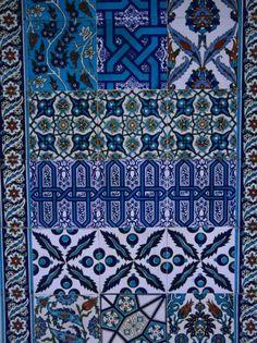 Blue tiles at Arasta Shops, Turkey.  |  Photo by Anders Blomqvist