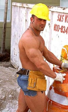 Sorry, Road construction blue collar men shirtless