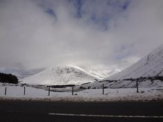 Snow in the Scottish Highlands