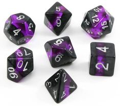 Elfstone Dice (Amethyst) Need a set of amazing dice for your favorite tabletop roleplaying game?...