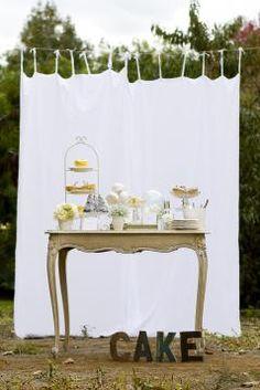 Smore bar with burlap backdrop, chalkboard sign? Dessert Buffet, Dessert Tables, Candy Buffet, Wedding Desserts, Wedding Cakes, Wedding Decorations, Holiday Parties, Holiday Fun, Burlap Backdrop
