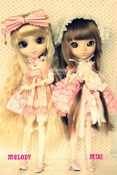 Melody & Miki - Pullip Prupate & Pullip Latte by Kim-kun, via Flickr
