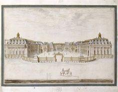 Façade originale du château de Versailles