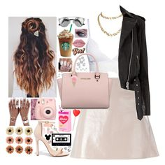"""""""."""" by lucy-miranda ❤ liked on Polyvore featuring Liliana, Courrèges, Michael Kors, Cartier, mae, Anya Hindmarch, Lime Crime, Fujifilm, Beats by Dr. Dre and LARA"""