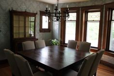 Interior Dining Room Ideas With Contemporary Dining Room Lighting And Wooden Furniture