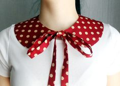 Red polka dot detachable collar  One of a kind by AliceCloset, €20.00
