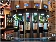WINE TASTING MACHINES. Pre-pay on your credit card and sample over 150 wines at The Wine Room, in Orlando, FL. As seen on Samantha Brown's Great Weekends