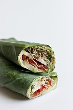 Raw Veggie Collard Wrap | Edible Perspective