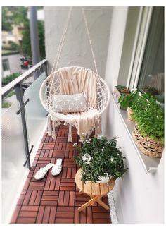 Narrow Balcony, Small Balcony Design, Small Balcony Garden, Small Balcony Decor, Balcony Ideas, Small Balcony Furniture, Modern Balcony, Balcony Decoration, Small Balconies