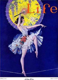 msbehavoyeur: Live Wire ~ Frank Xavier Leyendecker, Life magazine April 20, 1922 via
