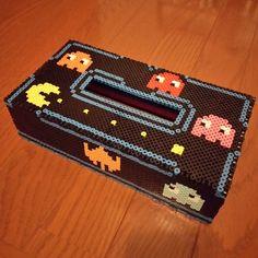 Pacman tissue box perler beads by kiiro_magura