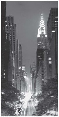 Paper: 24 1/2 x 12 1/2 Image: 24 x 12 Sensational evening photograph looking across 42nd street in New York City. The shadows and lights make for a fascinating setting.