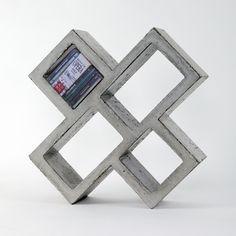 Conrete 100% - bookshelf | storage . Regal . étagère | Design: HandMadeFont | #lovligianna
