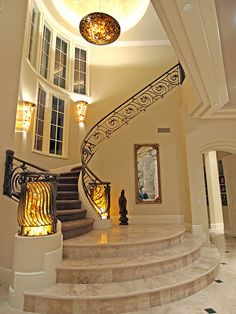 Entry way and stair case.