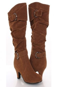 Camel 3in heel knee high boots