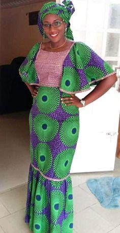 Robe African Fashion Ankara, Latest African Fashion Dresses, African Print Fashion, Africa Fashion, Ghana Fashion, Long African Dresses, African Lace Styles, African Print Dresses, African Style
