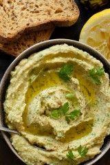 Citromos-bazsalikomos hummusz recept Vegetarian Recepies, Healthy Recepies, Healthy Snacks, Vegan Recipes, Cooking Recipes, Healthy Cake, Vegan Sauces, Greens Recipe, Quick Meals