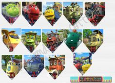 This is a great way to add whimsical details to your Chuggington party featuring all of your favorite characters! This listing is for a Baby 1st Birthday, Birthday Parties, Birthday Ideas, Chuggington Birthday, Train Party, Party Themes, Party Ideas, Party Bags, First Birthdays