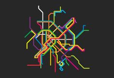 budapest metro line map 4'X6' by LiveitupS2 on Etsy, $1.50