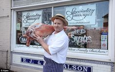 butcher shop operated by the same family for 476 years (Bridport, UK)
