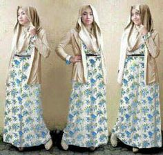 #bajumuslim ZUZY FLOWER 3in1,  bahan spandek dress+cardigan+pasmina , fit L  harga 85rb www.ramailancar.com www.facebook.com/tokobajurajutmurah 0857 2212 6318