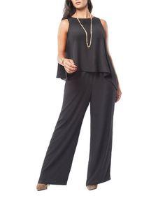 Look at this #zulilyfind! Black Sleeveless Wide-Leg Jumpsuit - Plus #zulilyfinds