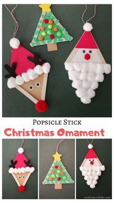 Christmas Arts And Crafts, Kids Christmas Ornaments, Winter Crafts For Kids, Xmas Crafts, Christmas Diy, Reindeer Christmas, Easy Christmas Crafts For Toddlers, Preschool Christmas Crafts, Christmas Ideas With Kids