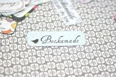 Clothing Labels - Iron On or Fabric - Birdie on Blue Design