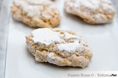 Delicious Ricciarelli the typical Tuscan Christmas buiscuits