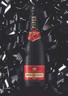 Jean Paul Gaultier designs new Piper-Heidsieck Champagne bottle #luxury