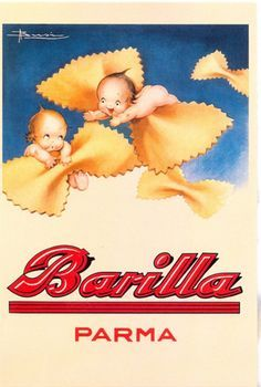 Vintage Food Advertising Poster Barilla Parma Classic Kraft Posters Canvas Painting Bathroom Wall Sticker Home Decoration Gift Vintage Ads Food, Vintage Food Posters, Vintage Italian Posters, Pub Vintage, Vintage Advertising Posters, Vintage Labels, Vintage Recipes, Vintage Cards, Vintage Travel