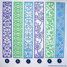 Papercut bookmarks