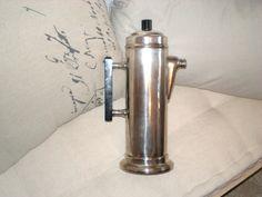 Art Deco Silver Plated Martini Shaker Black Bakelite by renew2u