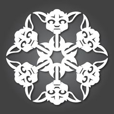 24 free Star Wars Snowflake patterns from Anthony Herrera. Our kids are going nuts for these!