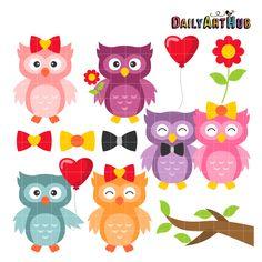 FREE Love Owls Clip Art Set