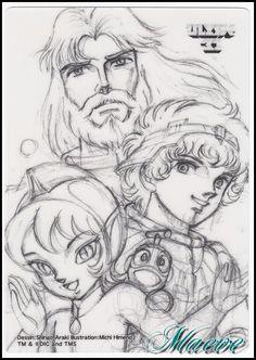 Uchuu Densetsu Ulysses 31 by Shingo Araki (Pencil) Illustration Manga, Web Design, Manga Characters, Manga Drawing, Drawing Reference, Graphic, Manga Anime, Art Drawings, Character Design
