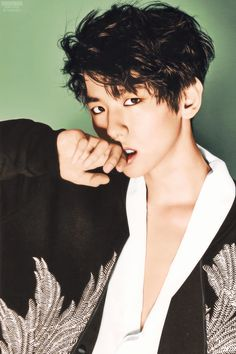 Just imagine Baekhyun giving you that intense look during a photoshoot.