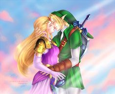 ...and they lived happily ever after. Link and Princess Zelda by SirensReverie.deviantart.com on @DeviantArt