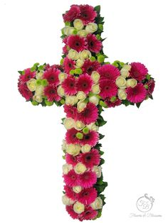 Funeral Cross GTA - Flowers and Blossoms Casket Sprays, Sympathy Flowers, Funeral Flowers, Wreaths, Gta, Blossoms, Flowers, Door Wreaths, Deco Mesh Wreaths