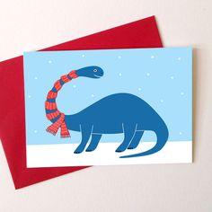 Dinosaur Christmas Cards