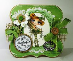 Polkadoodles Inky Pinky DT card Ickyink Oddella Fairy