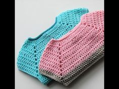 Crochet bodice for a toddler dress tutorial Crochet Baby Sweaters, Crochet Baby Clothes, Newborn Crochet, Crochet Cardigan Pattern, Crochet Collar, Crochet For Kids, Free Crochet, Crochet Designs, Crochet Patterns