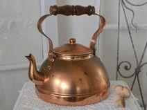 Wunderschöner alter Teekessel aus Kupfer
