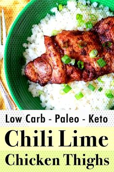 These chili lime marinated chicken thighs are packed with flavor. With only … These chili lime marinated chicken thighs are packed with flavor. With only net carbs, these chicken thighs are Low Carb, Keto and Paleo compliant. Low Carb Dinner Recipes, Paleo Recipes, Real Food Recipes, Chicken Recipes, Breakfast Recipes, Dessert Recipes, Freezer Recipes, Chicken Meals, Freezer Cooking