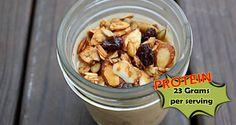 Protein Pumpkin Pie Overnight Oats Recipe