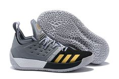 2018 adidas Harden Vol. 2 Cool Grey Black-Gold Basketball Shoes Basketball  Shoes d1a81a4fe