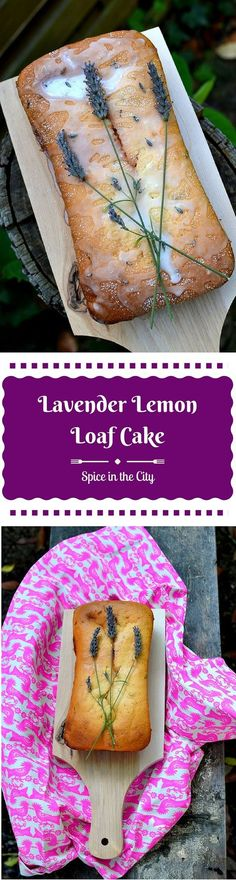 Lemon Lavender Loaf Cake | Spice in the City: Enjoy the wonders of Summer with this gorgeous, fragrant, moist Lavender Lemon Loaf Cake that smells like an English garden!